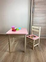 Стіл і стілець дитячий. Для навчання,малювання,гри. Стіл з ящиком і стільчик., фото 2