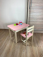 Стіл і стілець дитячий. Для навчання,малювання,гри. Стіл з ящиком і стільчик., фото 3