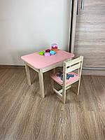 Стіл і стілець дитячий. Для навчання,малювання,гри. Стіл з ящиком і стільчик., фото 4