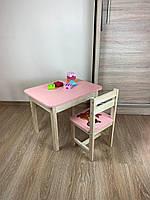 Стіл і стілець дитячий. Для навчання,малювання,гри. Стіл з ящиком і стільчик., фото 5