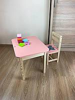 Стіл і стілець дитячий. Для навчання,малювання,гри. Стіл з ящиком і стільчик., фото 6