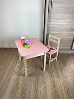 Стіл і стілець дитячий. Для навчання,малювання,гри. Стіл з ящиком і стільчик., фото 7