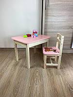 Стіл і стілець дитячий. Для навчання,малювання,гри. Стіл з ящиком і стільчик., фото 8