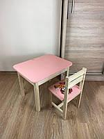 Стіл і стілець дитячий. Для навчання,малювання,гри. Стіл з ящиком і стільчик., фото 9