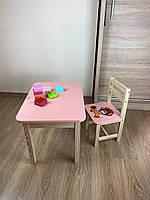 Стіл і стілець дитячий. Для навчання,малювання,гри. Стіл з ящиком і стільчик., фото 10