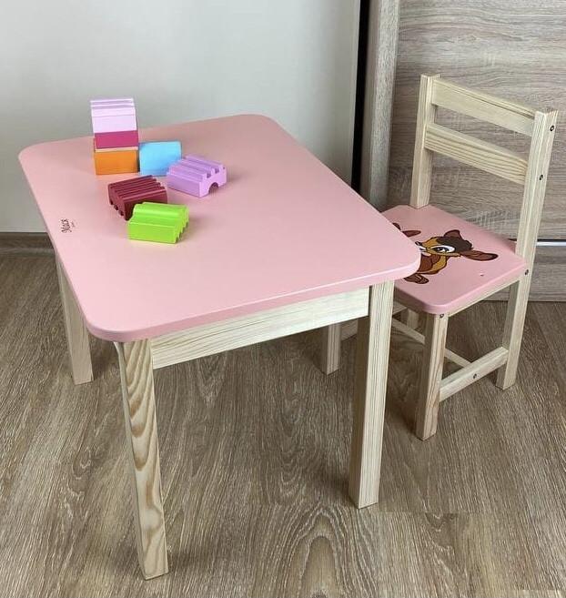 Стіл і стілець дитячий. Для навчання,малювання,гри. Стіл з ящиком і стільчик.