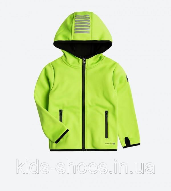Детская куртка softshell Cool Club 104 салатовая