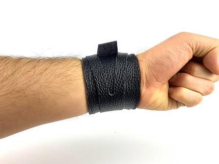 Напульсник кожаный на руку 1 шт, фото 2