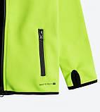 Детская куртка softshell Cool Club 104 салатовая, фото 3