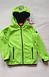 Детская куртка softshell Cool Club 104 салатовая, фото 5