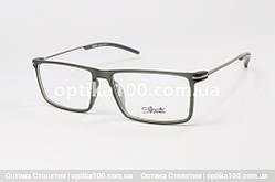 Чоловіча оправа для окулярів Silhouette. Матова прямокутна. Металеві дужки
