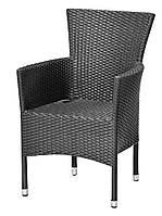 Кресло садовое черный (искусственный ротанг)