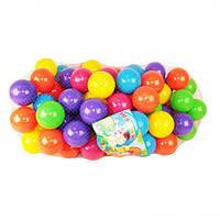 Яркие разноцветные мягкие шарики, мячики для детских сухих бассейнов 70 мм 100 шт в сетке MToys 17102