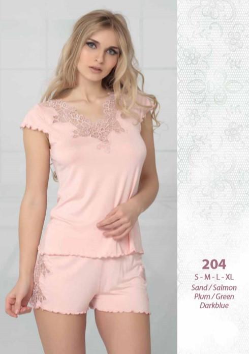 Reіna 204 піжама з шортами S 44-46, пісочний