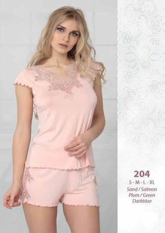 Reіna 204 піжама з шортами S 44-46, пісочний, фото 2