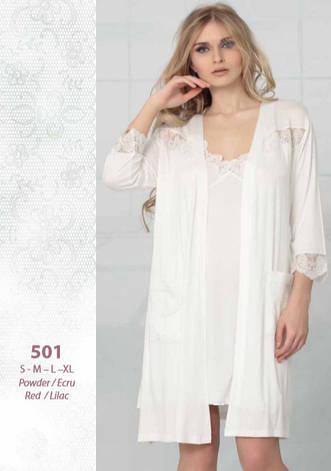 Reіna 501 сорочка з пеньюаром S 44-46, ліловий, фото 2