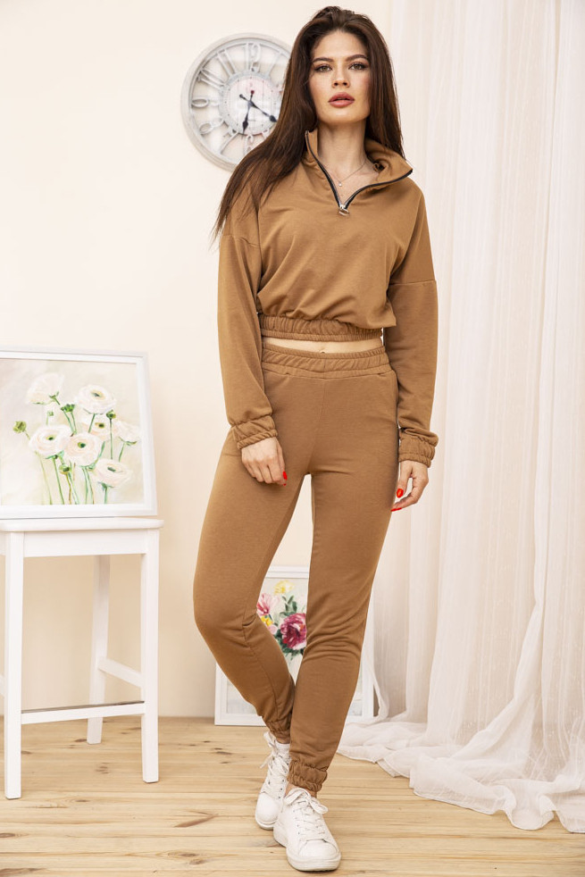 Спорт костюм жіночий 119R286 колір Коричневий