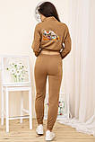 Спорт костюм жіночий 119R286 колір Коричневий, фото 4