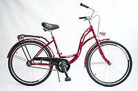 Велосипед женский городской VANESSA 26 Red с корзиной Польша, фото 1