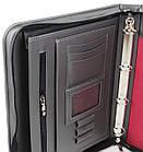 Папка для документів А4 з еко шкіри Portfolio Port1008 сіра, фото 3