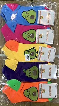 Носки женские демисезонные короткие хлопок Натали, 23-25 размер, ассорти, 710-1