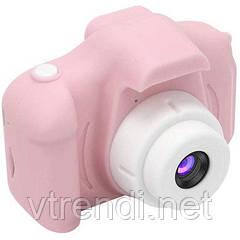 Детская фотокамера c 2.0 дисплеем и с функцией видео розовая SKL11-290090