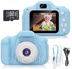 Детская фотокамера c 2.0 дисплеем и с функцией видео синяя SKL11-290088