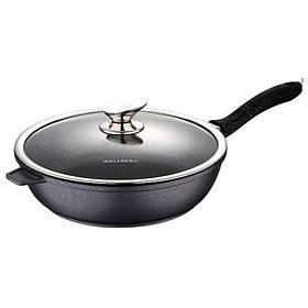 Сковорода с крышкой d-28х7,5 см Wellberg WB-3290