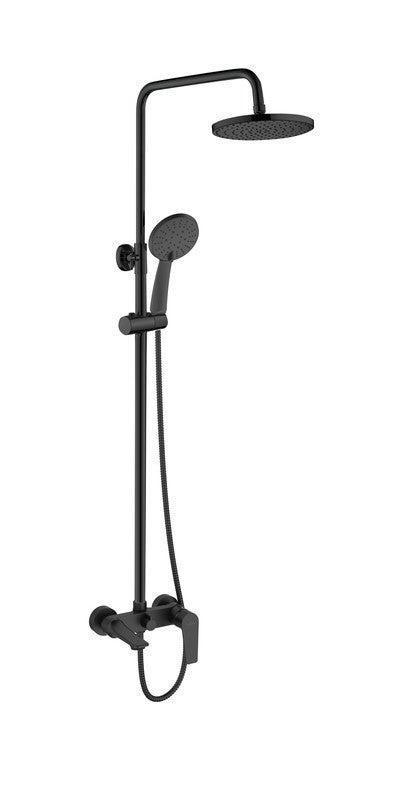 Душова система зі змішувачем для ванни чорна Invena Dokos AU-19-B04