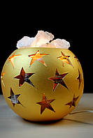 Соляная лампа со звездочками