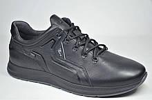 Чоловічі шкіряні кросівки чорні велетні Clubshoes 19/41