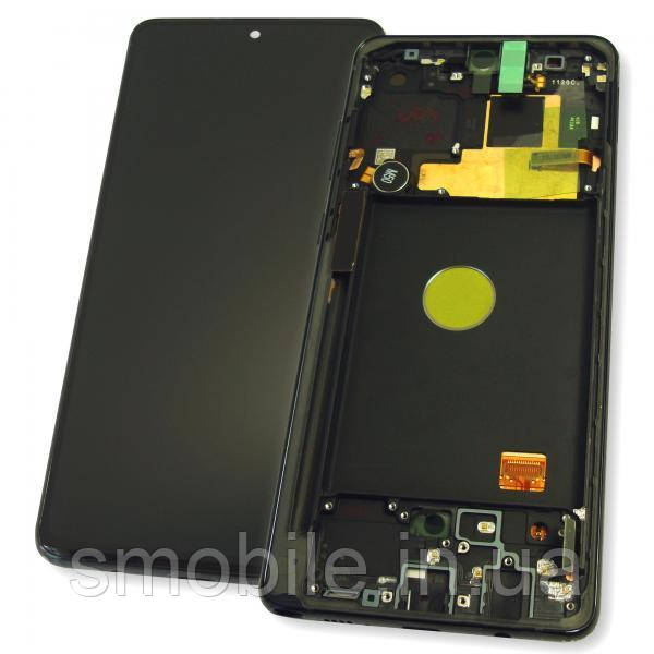 Дисплей Samsung N770F Galaxy Note 10 Lite с сенсором и рамкой, черный GH82-22055A (оригинал 100%)