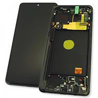 Дисплей Samsung N770F Galaxy Note 10 Lite с сенсором и рамкой, черный GH82-22055A (оригинал 100%), фото 1