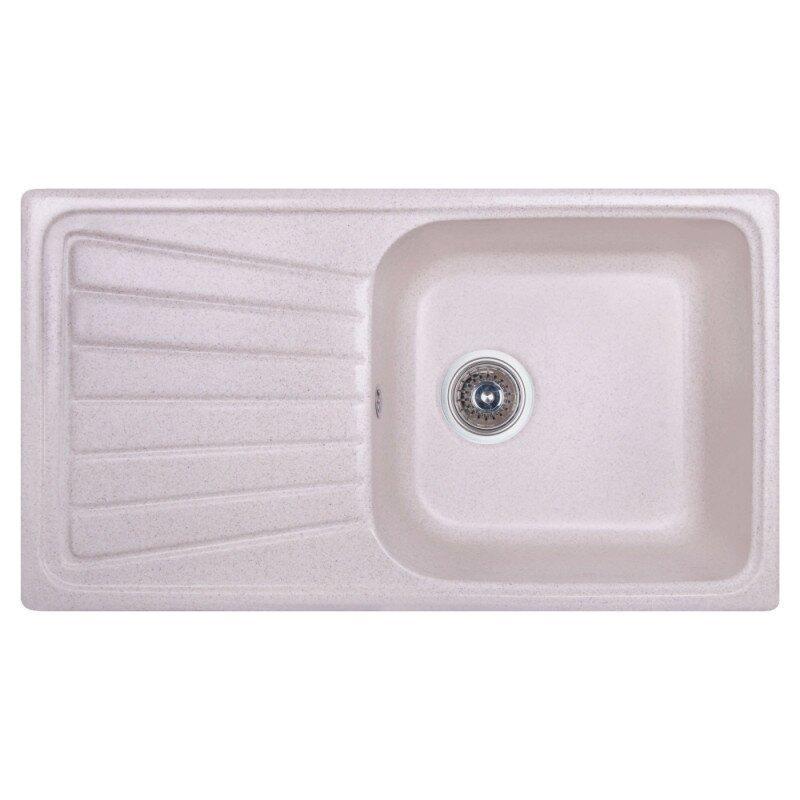 Мийка на кухню гранітна прямокутна COSH 8146K COSH8146K800 780мм x 435мм бежевий з сифоном 62142