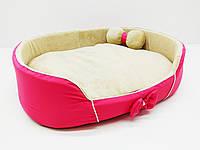 Лежак для собак и кошек VIP Плюш красная
