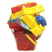 Большой песочный набор - Jiahe Plastic, 22 шт, сетка, красный, разноцветный, пластик (JH001)