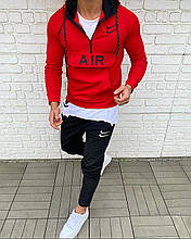 Мужской спортивный костюм Найк красный