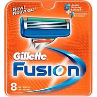 Змінні касети для гоління Gillette Fusion 8 шт Змінні леза Джилет Ф'южн Кат А3 КИТАЙ НАЙГІРШИЙ