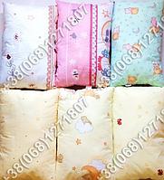 Детская силиконовая подушка 40х60 в кроватку, в садик желтая