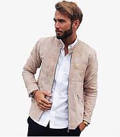 Чоловіче стильне замшеве пальто-піджак