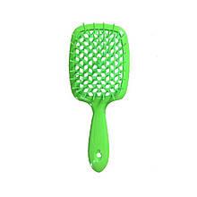 Расческа для волос Janeke Superbrush Green Neon
