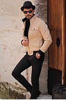 Чоловіче стильне замшеве пальто-піджак, фото 1