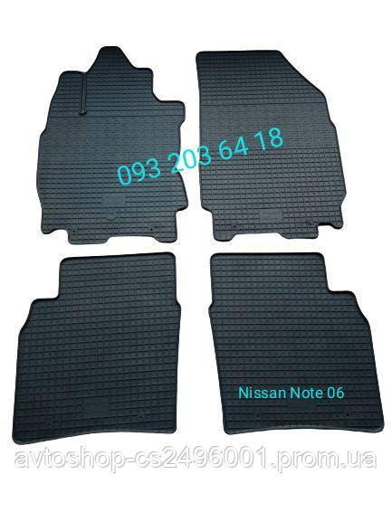 Коврики резиновые Nissan Note 2005, Черный