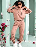 Трикотажный спортивный костюм из кофты с капюшоном и штанов с 42 по 48 размер, фото 2