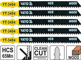 Набір полотен для електролобзика по дереву і ламінату чистий рез Yato YT-3404