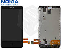 Дисплейный модуль (дисплей + сенсор) для Nokia X Dual Sim, оригинал