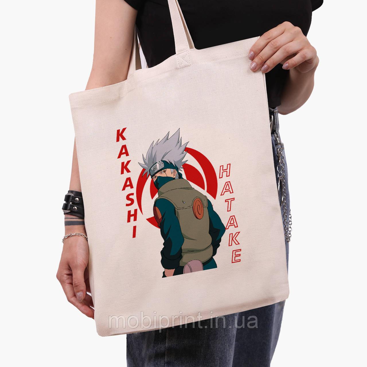 Еко сумка шоппер Хатакэ Какаші Наруто (Hatake Kakashi) (9227-2820) 41*35 см