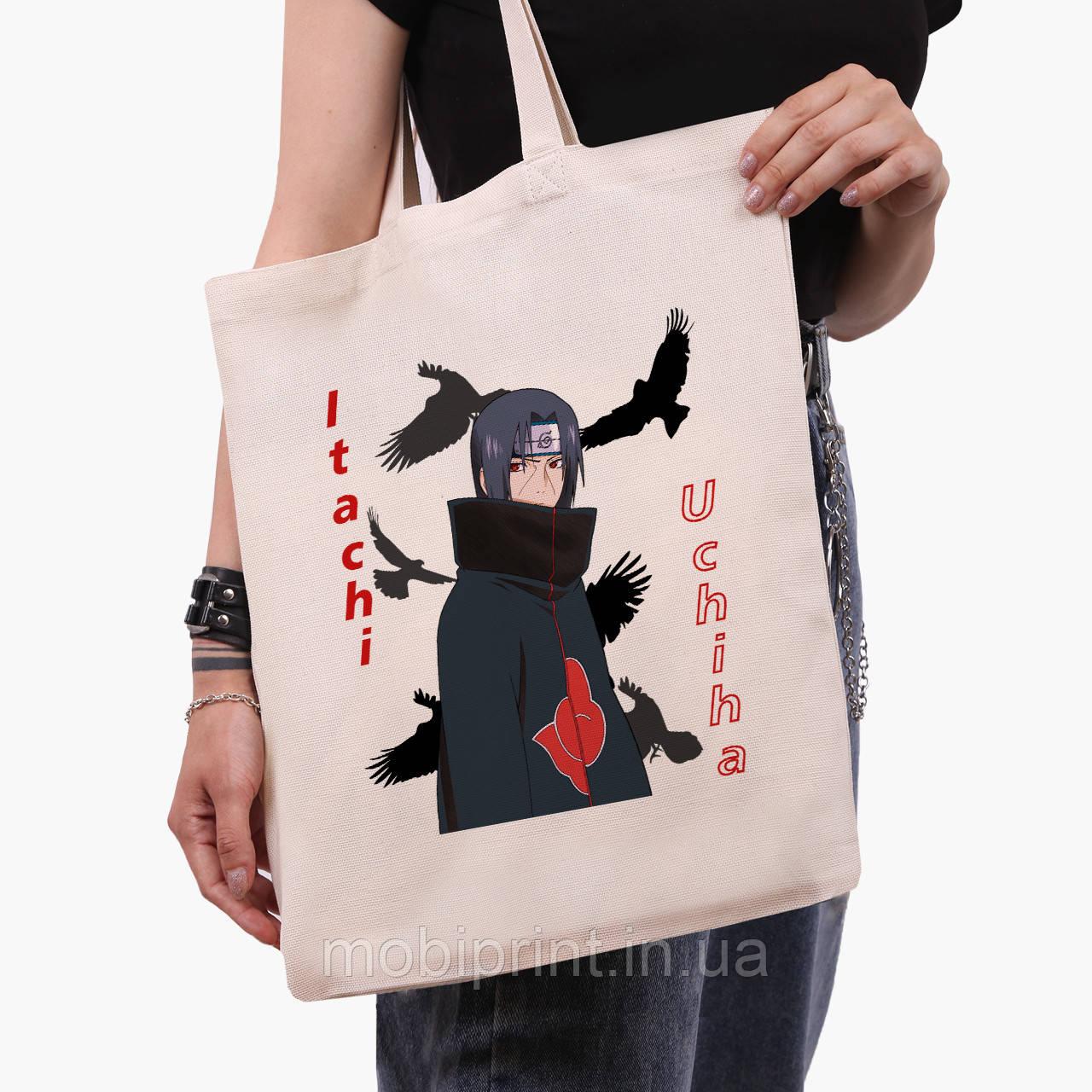 Эко сумка шоппер Итачи Учиха (Itachi Uchiha) (9227-2821)  41*35 см