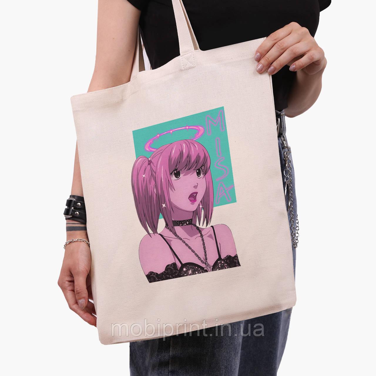 Еко сумка шоппер Міса Аманэ Зошит смерті (Misa Amane Death Note) (9227-2827) 41*35 см