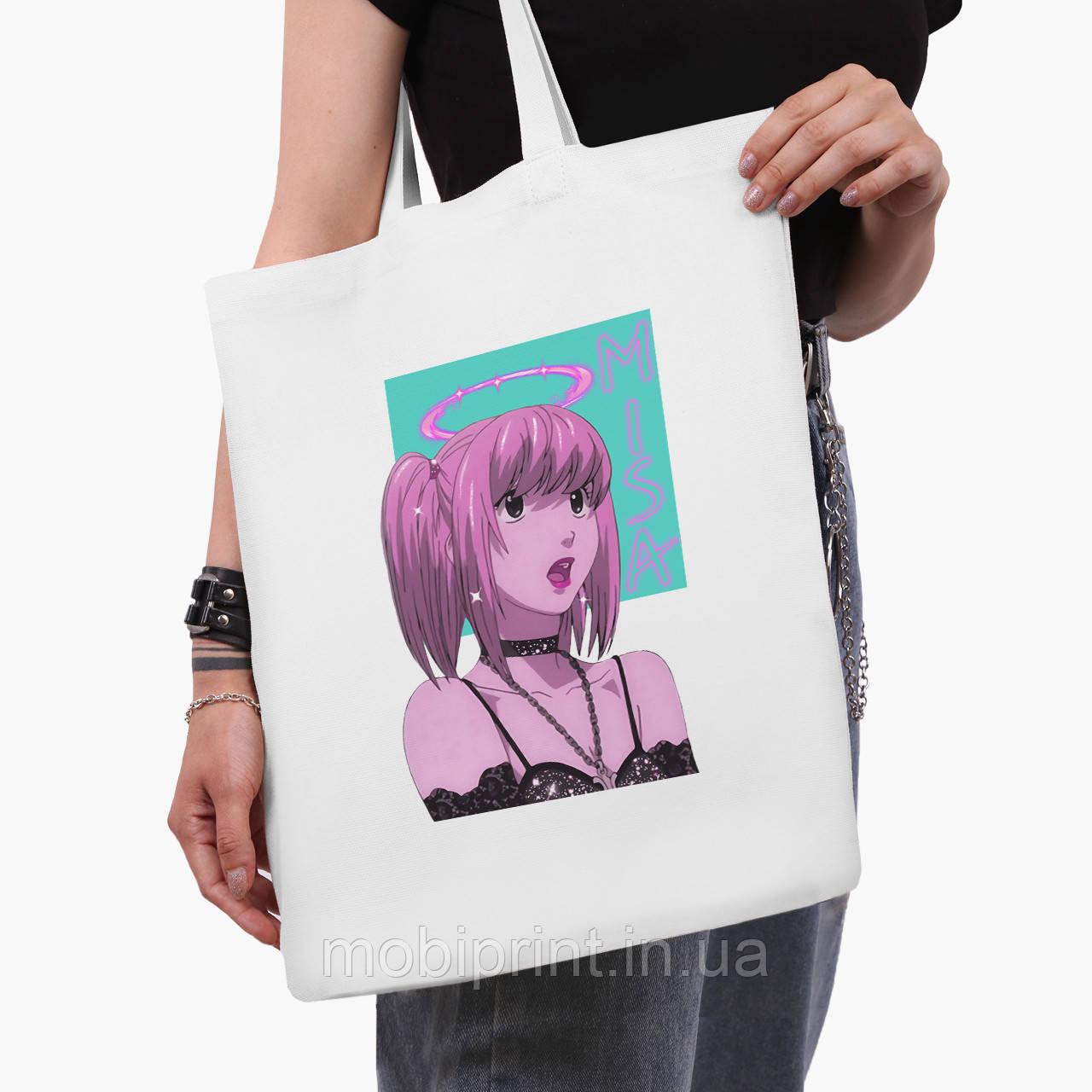 Еко сумка шоппер біла Міса Аманэ Зошит смерті (Misa Amane Death Note) (9227-2827-3) 41*35 см